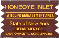 Honeoye Inlet WMA Brown Sign