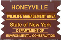 Honeyville Brown Sign
