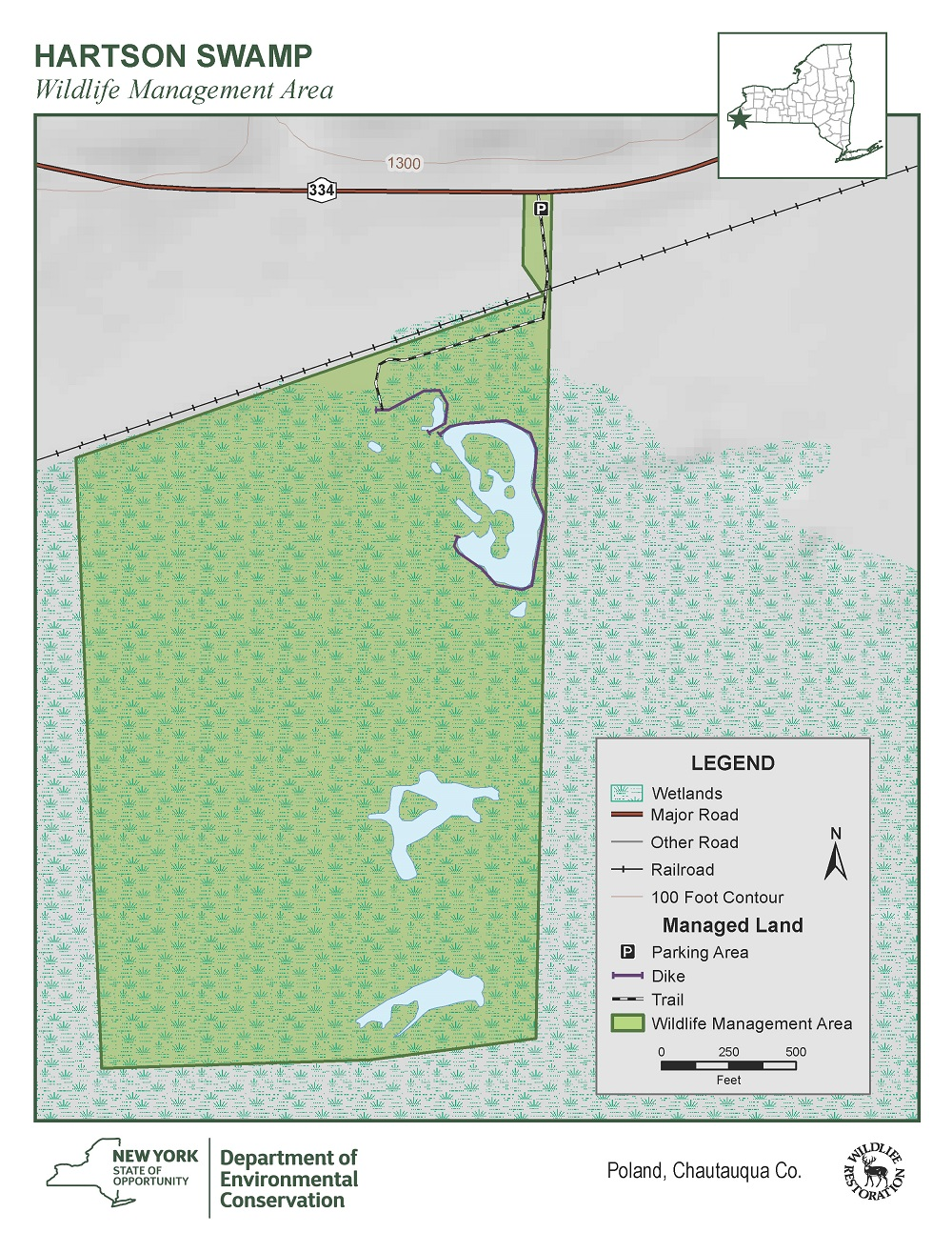 Map of Hartson Swamp WMA