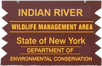 Indian River WMA Brown Sign