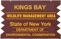 kings bay wma brown sign