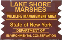 Lake Shore Marshes WMA Brown Sign