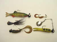 photo of lead weighted fishing lures