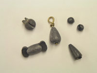 photo of lead sinkers
