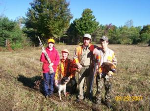 Successful hunters at M. Burke WMA