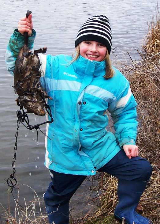 Successful Young Muskrat Trapper, Steuben County