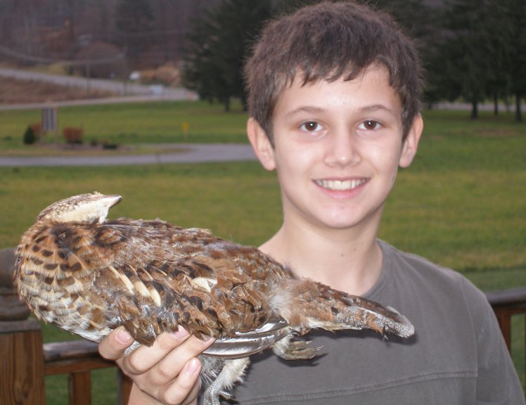Successful Junior Grouse Hunter, Otsego County, Fall 2009