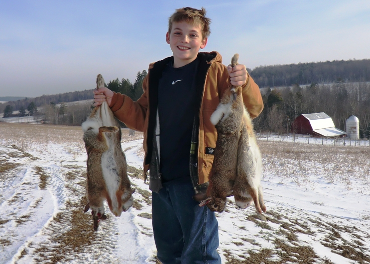 Successful Junior Rabbit Hunter, Steuben County, Fall 2010