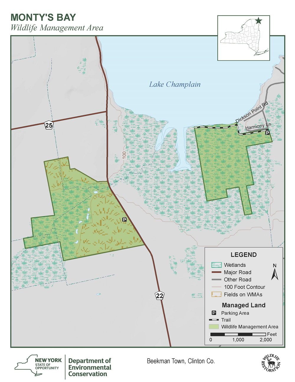 Montys Bay Wildlife Management Area Map