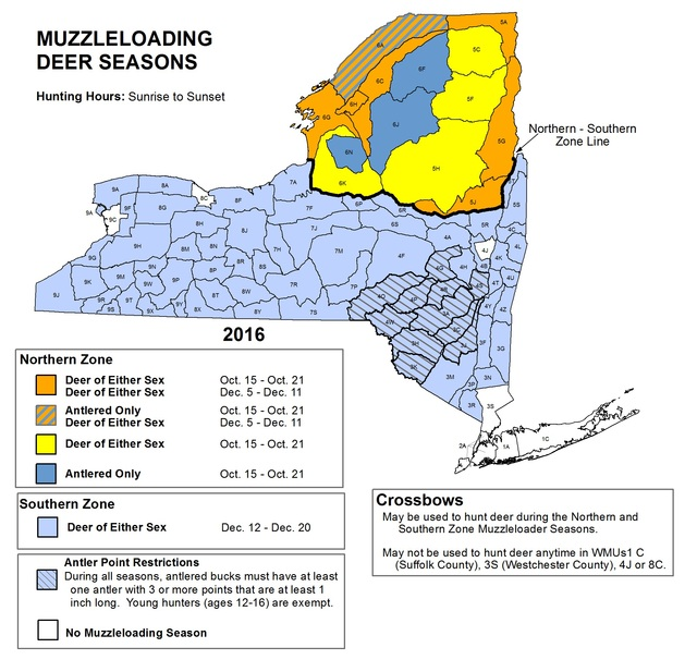 Image gallery deer seasons for Nys fishing seasons