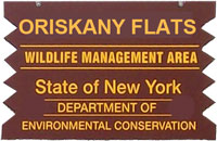 Oriskany Flats brown sign