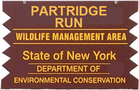 Partridge Run Brown Sign