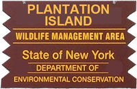 Plantation Island Brown Sign