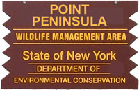Point Peninsula brown sign