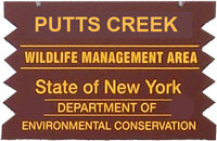 Putts Creek Brown Sign