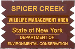 Spicer Creek WMA Brown SIgn