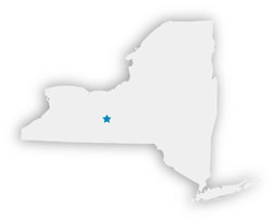 NYS map with location marked