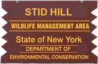Stid Hill WMA Brown Sign
