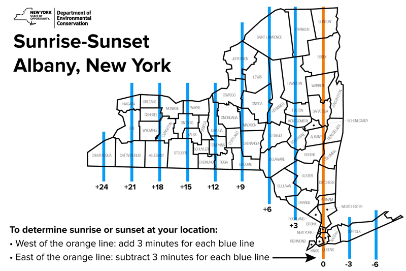 Sunrise - sunset lines  sc 1 th 183 & Sunrise-Sunset Table - NYS Dept. of Environmental Conservation