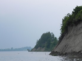 View of Swallow Bluffs from the St. Lawrence River