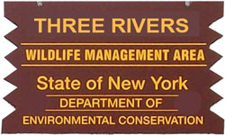 three river brown sign