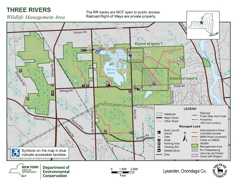 Three Rivers Wildlife Management Area Map