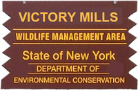 Victory Mill WMA Brown Sign