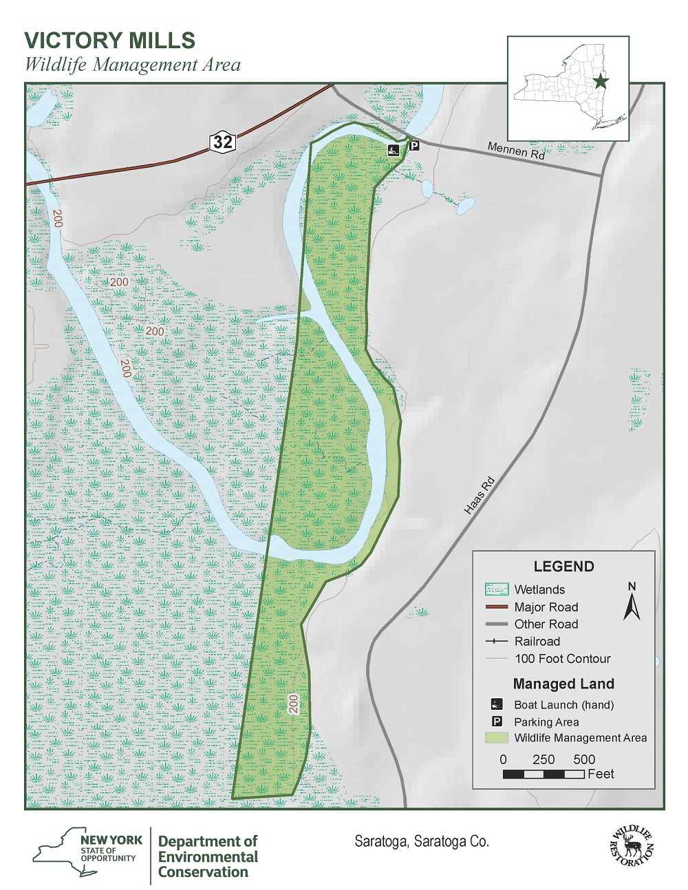Map of the Victory Mills Wildlife Management Area