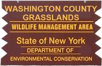 Washingtong County Grasslands Brown Sign