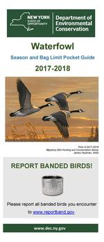 Cover of the 2016-2017 Waterfowl Regulations Brochure