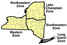 Map of the 5 waterfowl hunting zones