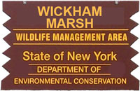 Wickham Marsh Brown Sign
