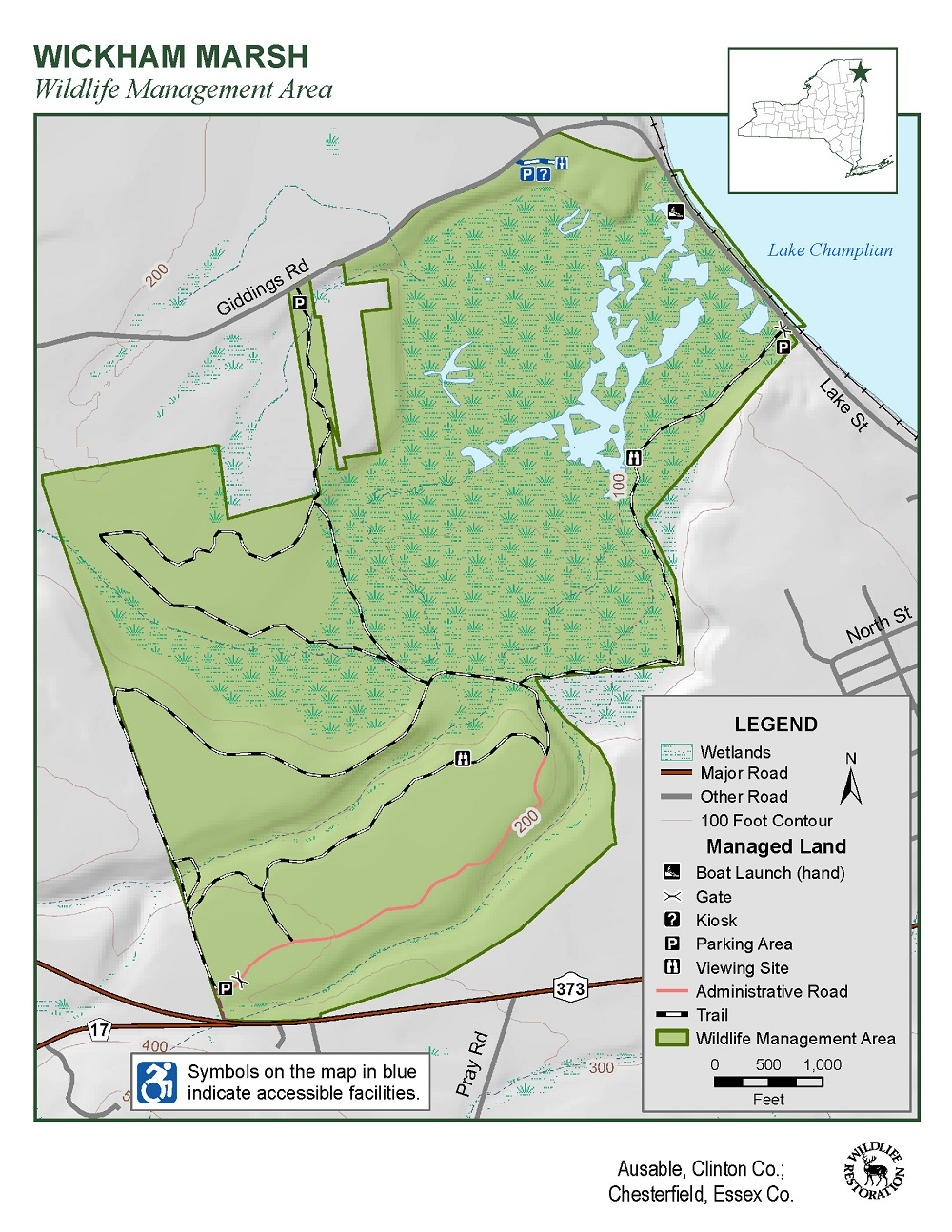 Wickham Marsh Wildlife Management Area Map