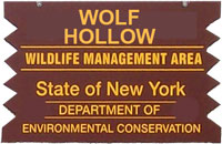 Wolf Hollow Brown Sign