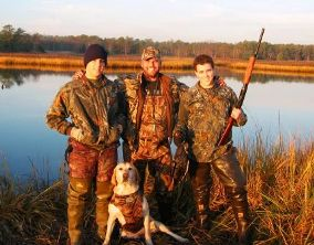 Youth Waterfowl Hunt participants