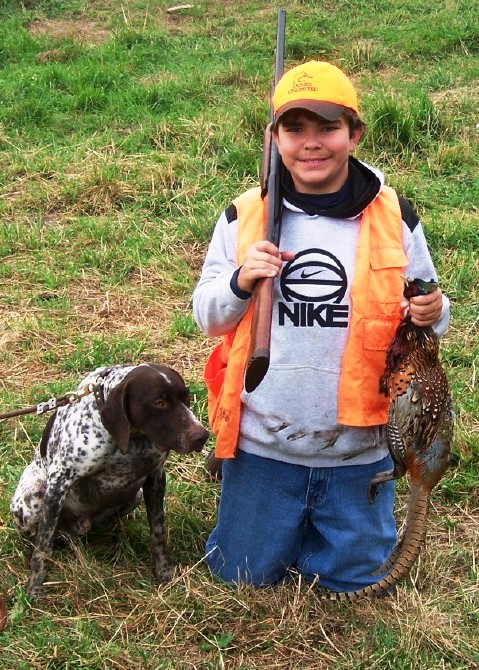 Successful Junior Hunter, Youth Pheasant Hunt 2010, Albany County