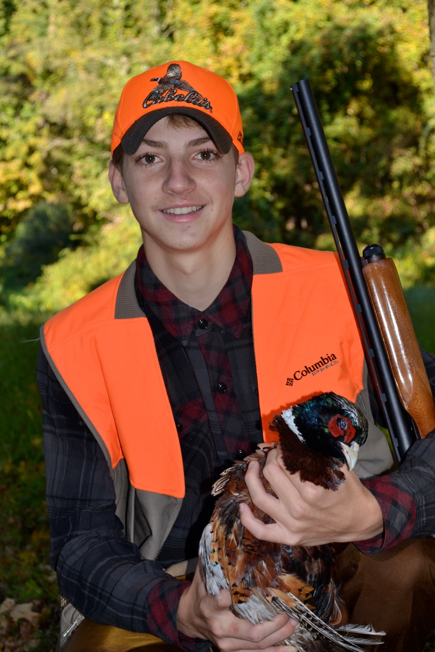 Youth pheasant hunter.