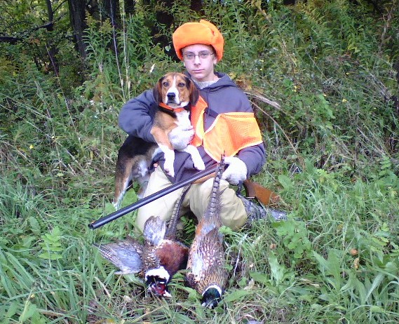 Successful Junior Hunter, Youth Pheasant Hunt 2009, Wyoming County