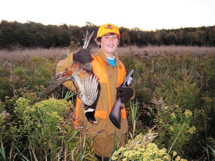 Successful Junior Hunter, Youth Pheasant Hunt 2010, Wyoming County