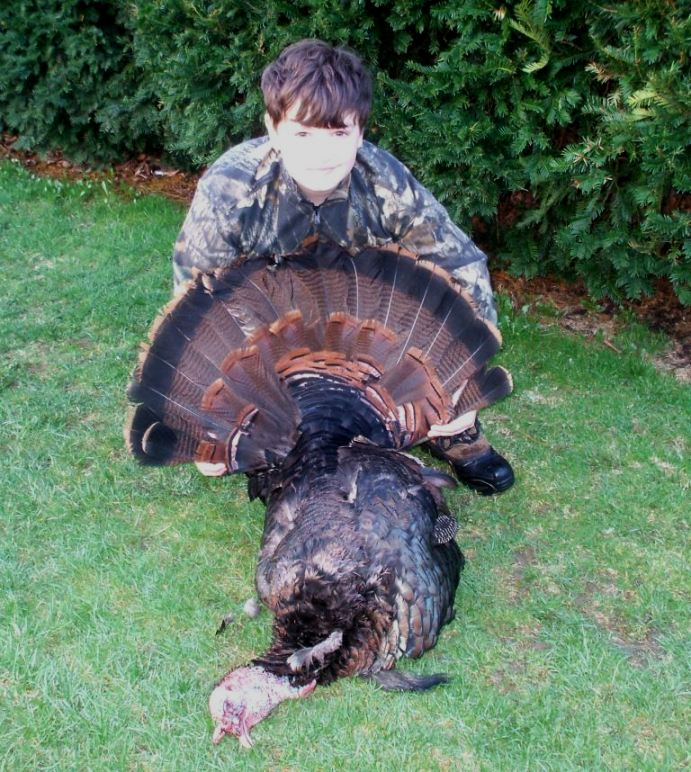 Successful Junior Hunter, Youth Turkey Hunt 2009, Chemung County
