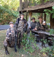 A group of successful youth duck hunters with their harvest.