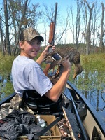 Youth waterfowl hunter.