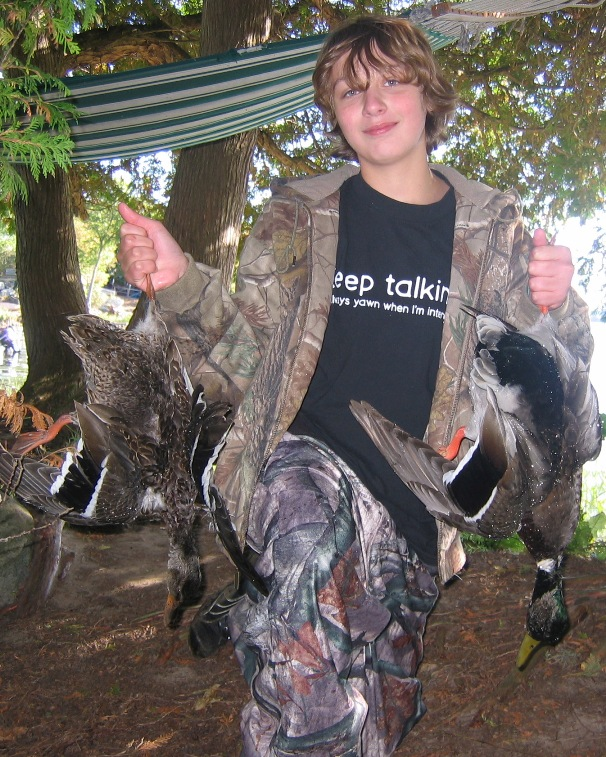 Successful Junior Hunter, Youth Waterfowl Hunt 2009, St. Lawrence County