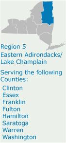 Eastern Adirondacks/ Lake Champlain - Region 5 - NYS Dept  of